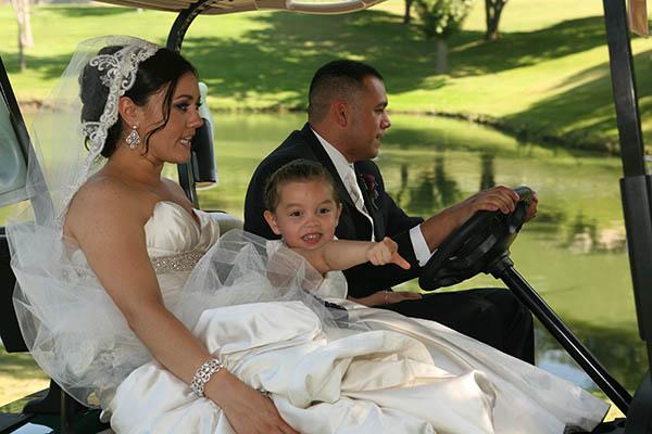 wedding-golfcart